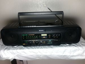 Sony CFD-68 CD/Radio/Cassette Player Recorder Portable Stereo System for Sale in Puyallup, WA