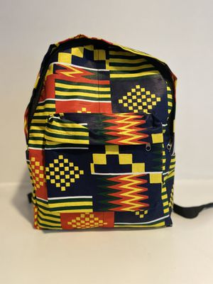 """Ankara Backpack - Handmade with Authentic African Print with Pockets for 15"""" Laptop for Sale in Vienna, VA"""