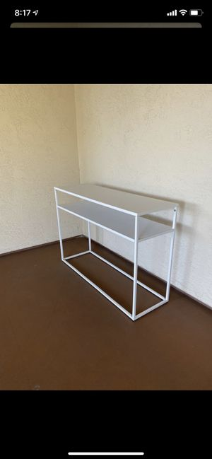 NEW heavy and durable iron white TV stand sofa table console desk ;:/ for Sale in San Diego, CA
