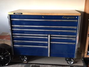 Snap On tool box Epiq series with butcher block top for Sale in Hughson, CA