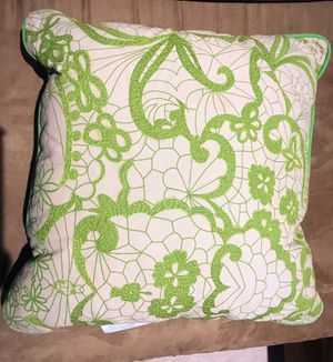 Two 18x18 Beautiful Pillows!Make an Offer! Smoke free & pet free ! porch pick up for Sale in Bristow, VA