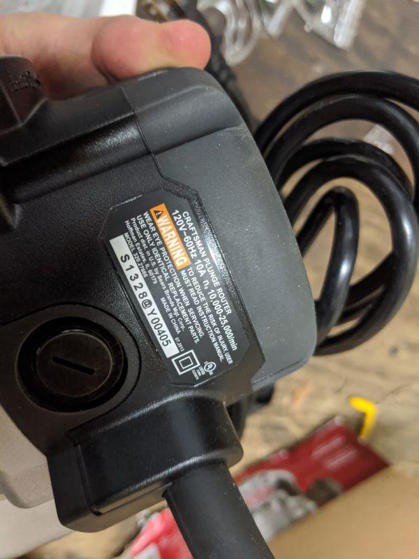 Craftsman Plunge Router. New