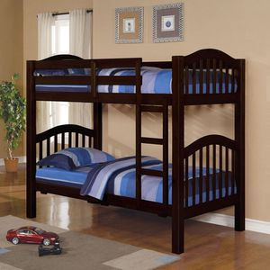 Espresso wood Twin bunk bed for Sale in Las Vegas, NV