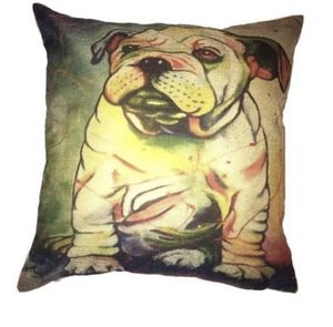 Bulldog dog pet couch size pillow 17 inches by 17 inches for Sale in Lancaster, PA