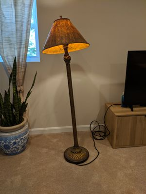 Antique Brass Bamboo Floor Lamp for Sale in Alexandria, VA