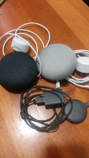 2 Google home minis and a HD chromecast for Sale in Boston, MA