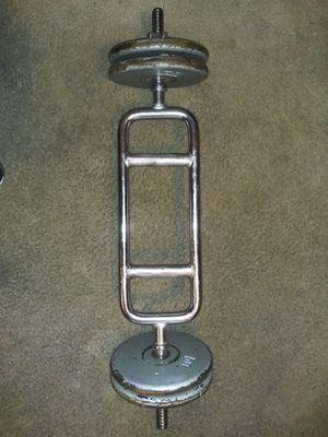 Curl Up Bar With Weights for Sale in Los Angeles, CA