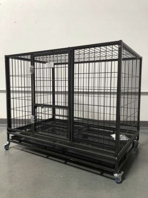 New extra-large dog pet kennel cage crate house with plastic floor good for puppies feet🐕 see dimensions in second picture👍🏻 for Sale in Las Vegas, NV