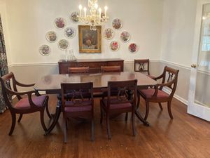 Solid mahogany dining table for Sale in Brookfield, WI