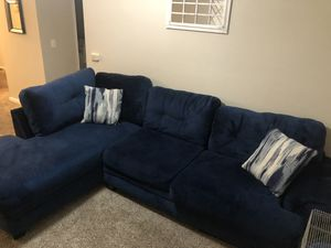 Blue sectional couch for Sale in Kennesaw, GA