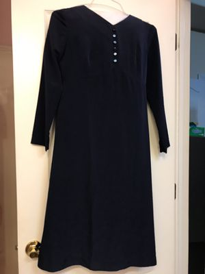 Womens Navy Blue Cute Dress with Full Sleeve Size 6 for Sale in Bentonville, AR