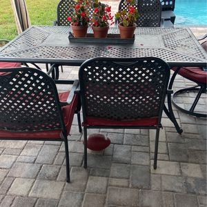Patio Set 6 Chairs, Table, Cushions for Sale in Zephyrhills, FL