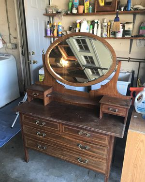 antique dresser with mirror for Sale in Fountain Valley, CA