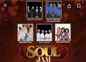 Valentine's soul jam concert-Ovation Hall at Oceans Resort Casino: 4 Tickets for Sale in Philadelphia, PA