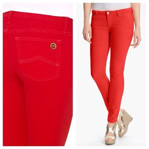 Michael Kors Women's Basics Izzy Skinny Mid-Rise Jeans Size 4 Sea Coral MSRP $98.00 for Sale in Cleveland, OH
