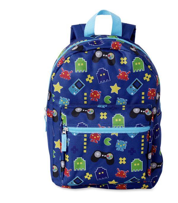 """Backpack 15"""" school 8 bit pacman"""