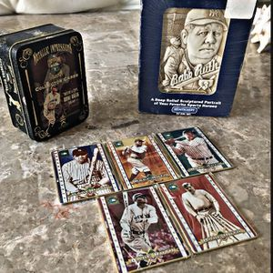 Babe Ruth Collectible five card metal tin shed and stone sculpture new 1990s for Sale in Montgomery, NJ