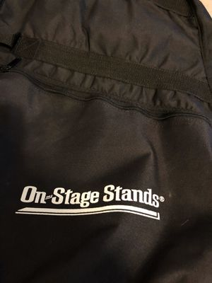 On stage stands soft guitar case. Very good condition for Sale in Mechanicsburg, PA