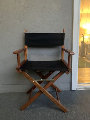 Director's Chair - Black & Wooden for Sale in Glendale, CA