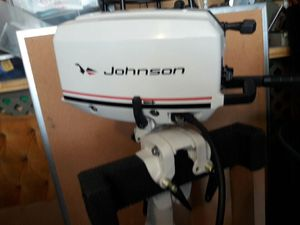 Outboard Motor 1989 Johnson 4 horsepower 2 stroke 2 cylinder for Sale in Chicago, IL