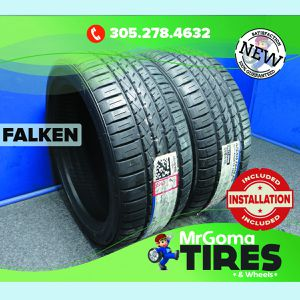 2 NEW 255/40/19 FALKEN AZENIS FK450 A/S XL TIRES 100Y 255/40ZR19 2554019 for Sale in Miami, FL