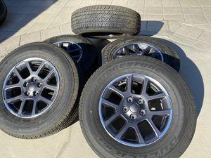 "5x 18"" 2020 Jeep Gladiator wheels Overland Package Bridgestone Dueler 255/70/18 Jeep Wrangler for Sale in Rancho Cordova, CA"