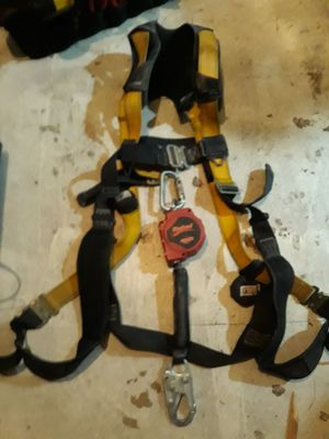 Fall tech adjustable fall prevention harness, and Rebel retractable lanyard for Sale in Joplin, MO