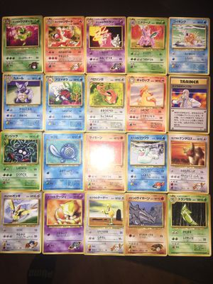 Rare, Collectible Original 1996 Japanese Nintendo Pocket Monsters Collectible Cards - Unlimited, Base, Gym, Jungle Set for Sale in Guilford, CT