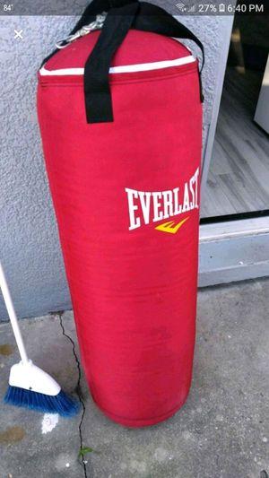 Everlast 80lb punching bag for Sale in BELLEAIR BLF, FL