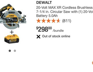 On sale dewat brushless motor XR circular saw whit brake comes whit XR 5AH battery $$$220 dollar firm price in oakland for Sale in Alameda,  CA