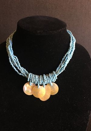"""Southwest Blue Glass Bead, Abalone Shell Accent - Multi Strand Necklace- Exquisite- Top Quality- 17"""" Excellent Condition Listing Hundreds Of Items for Sale for sale  Miami, FL"""