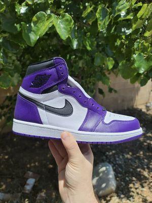 Jordan 1 Court purple for Sale in Glendale, AZ