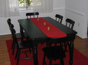 Solid wood dining table with six chairs for Sale in Fairfax, VA