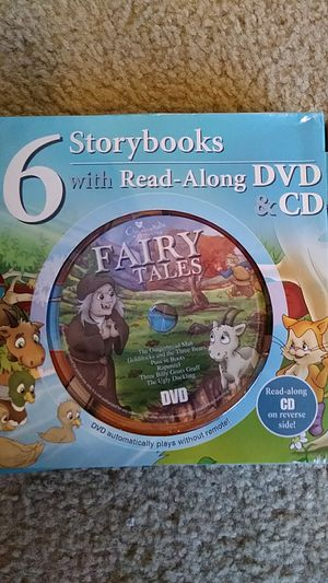 LIKE NEW 6 popular Fairy Tales Storybooks with Read-Along DVD & CD for Sale in Falls Church, VA