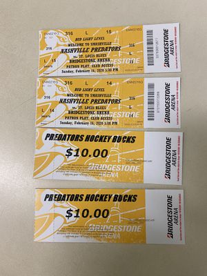 Nashville Predators Tickets for Sale in Clarksville, TN
