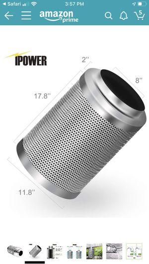 ipower 6 inch carbon filter for Sale in Long Beach, CA