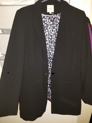 Black Cardigan With Cute Flower Print Inside for Sale in Bothell, WA