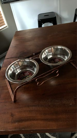 Brass medium dog bowl set for Sale in Surprise, AZ
