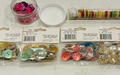 Decorative buttons are made of mother of pearl and a set of plastic ones for Sale in Fresno,  CA
