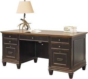 *Brand New* Martin Furniture Hartford Double Pedestal Shaped Desk, Brown for Sale in Dublin, OH