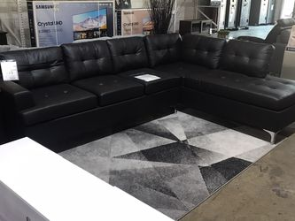 Beautiful Black leather Sectional !! Take It Home Today! Only $49 Down!! for Sale in Dallas,  TX