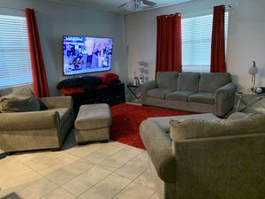 5 Pc Gray Living Room Set Sofa, 2 Oversized Chairs/Ottoman's for Sale in Glendale, AZ
