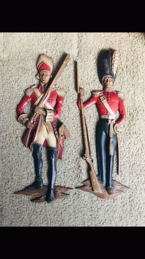 """Vintage British Soldiers Heavy Metal Wall Decor 21"""" for Sale in Clearwater, FL"""