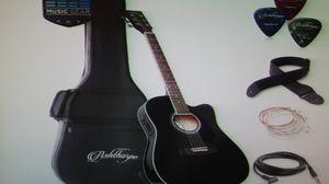 "Black 41"" Thinline Acoustic ELECTRIC Guitar W Bag & EQ for Sale in Spokane, WA"