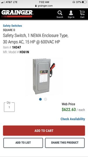 SQUARE D safety switch for Sale in Pomona, CA
