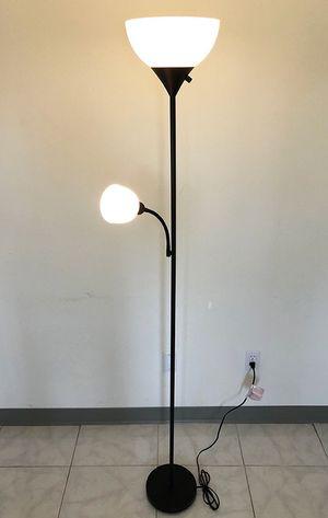 (NEW) $25 LED 2-Light Floor Lamp 6ft Tall w/ Adjustable Tilt Light Fixtures Home Living Room Office for Sale in El Monte, CA