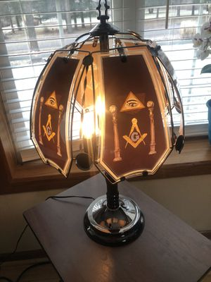 Masonic Touch Lamp Three Touch Settings for Sale in Kalamazoo, MI