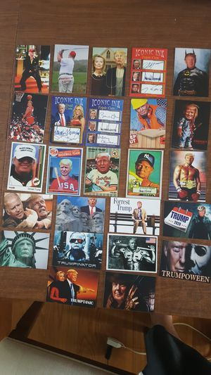 Lots of 25 different Donald Trump baseball cards make America great again MAGA for Sale in Mundelein, IL