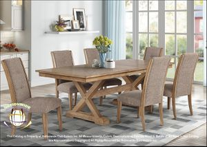 BRAND NEW Nation Furniture CONTEMPORARY 7-Piece DINING SET WITH A RUSTIC BLEND IN MEDIUM BROWN . for Sale in Hilliard, OH