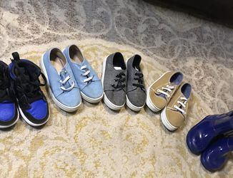 Boys Shoes, Sneakers, and Rain Boots 8c-9c for Sale in Virginia Beach,  VA